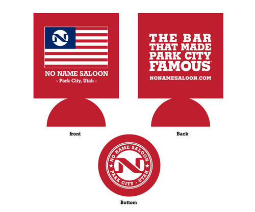 Folding Flag Koozie - Red