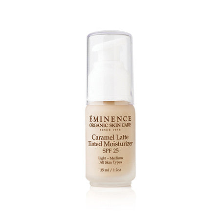 Eminence Organics Caramel Latte Tinted Moisturizer SPF 25 light to medium