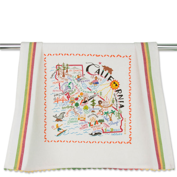 Cat Studio Dish Towel California