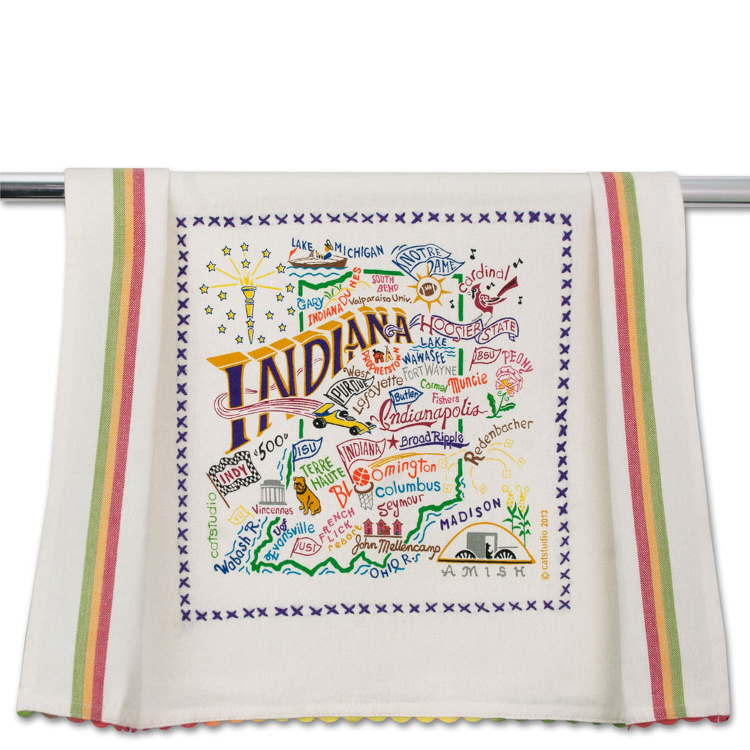 Cat Studio Dish Towel Indiana