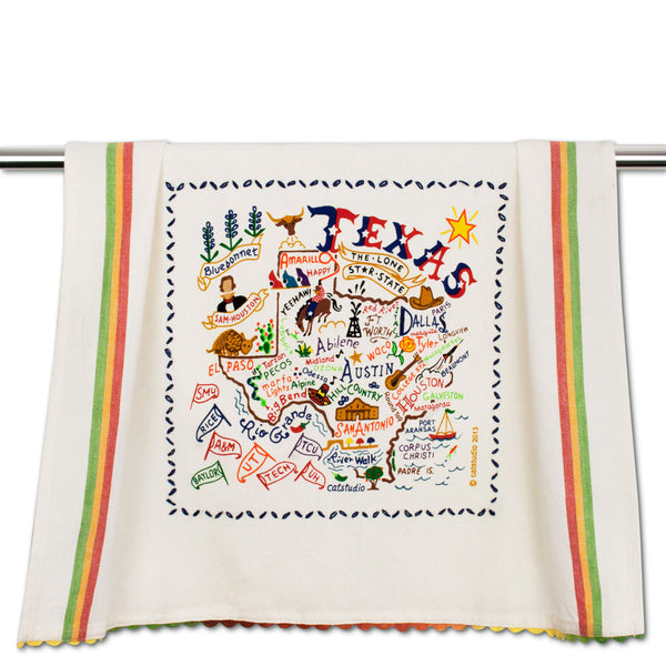 Cat Studio Dish Towel Texas