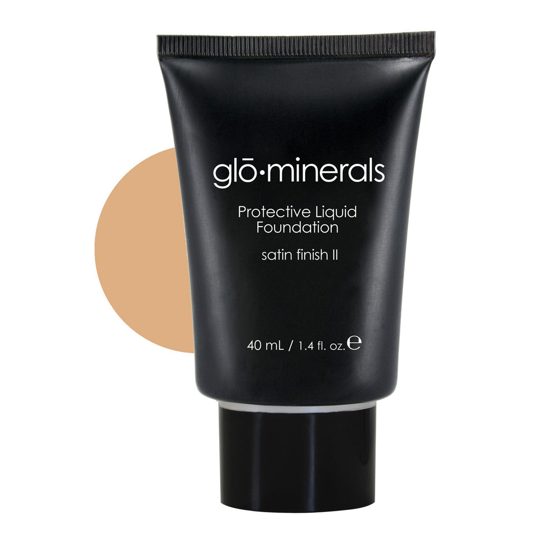 gloMinerals Protective Liquid Foundation Satin II Golden Light