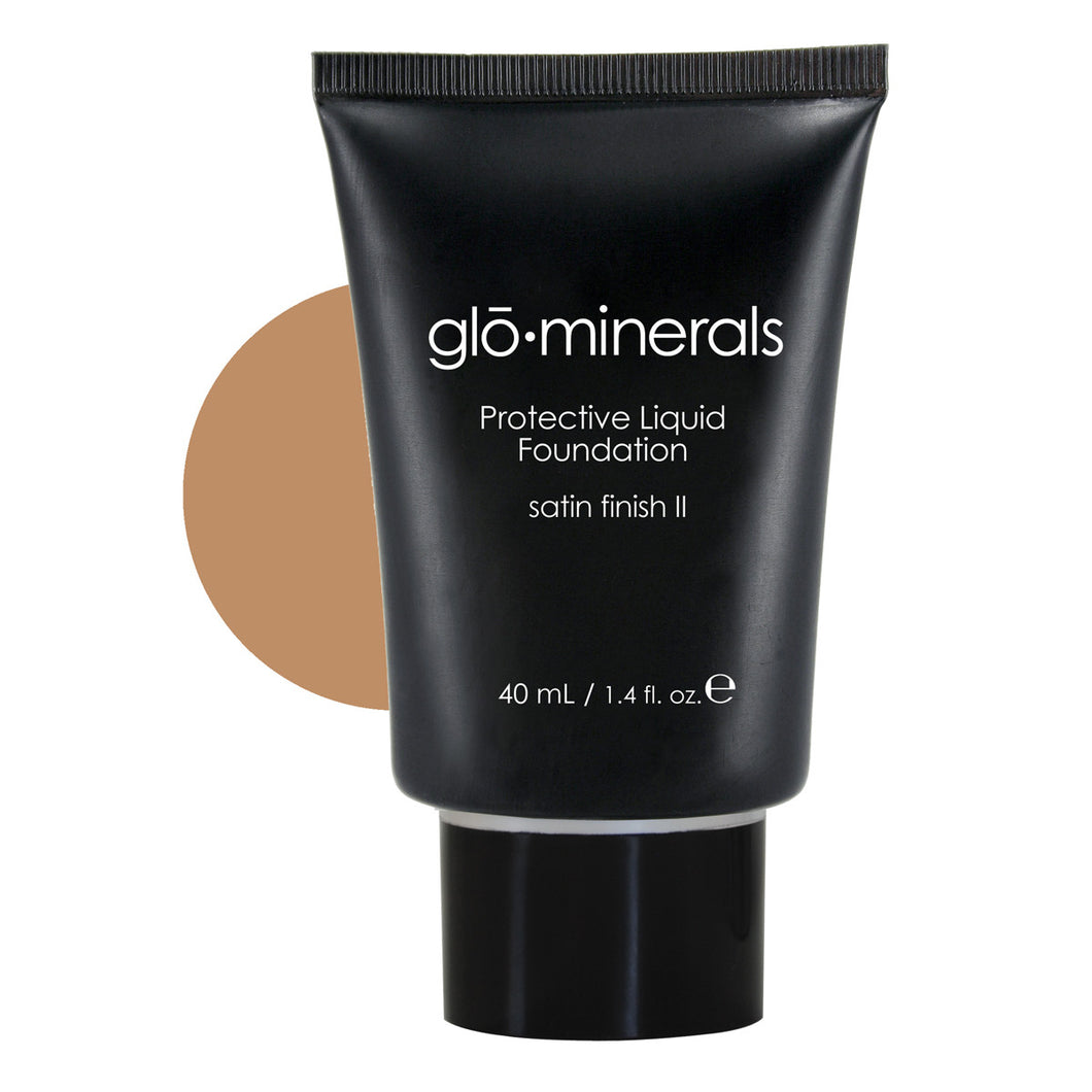 gloMinerals Protective Liquid Foundation Satin II Golden Dark