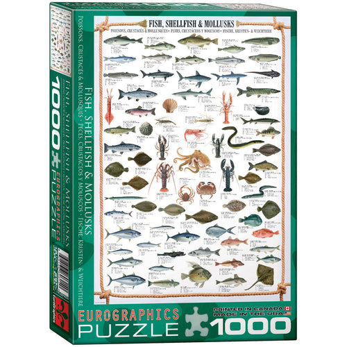Eurographics Fish Shellfish & Mollusks Puzzle 1000 pcs