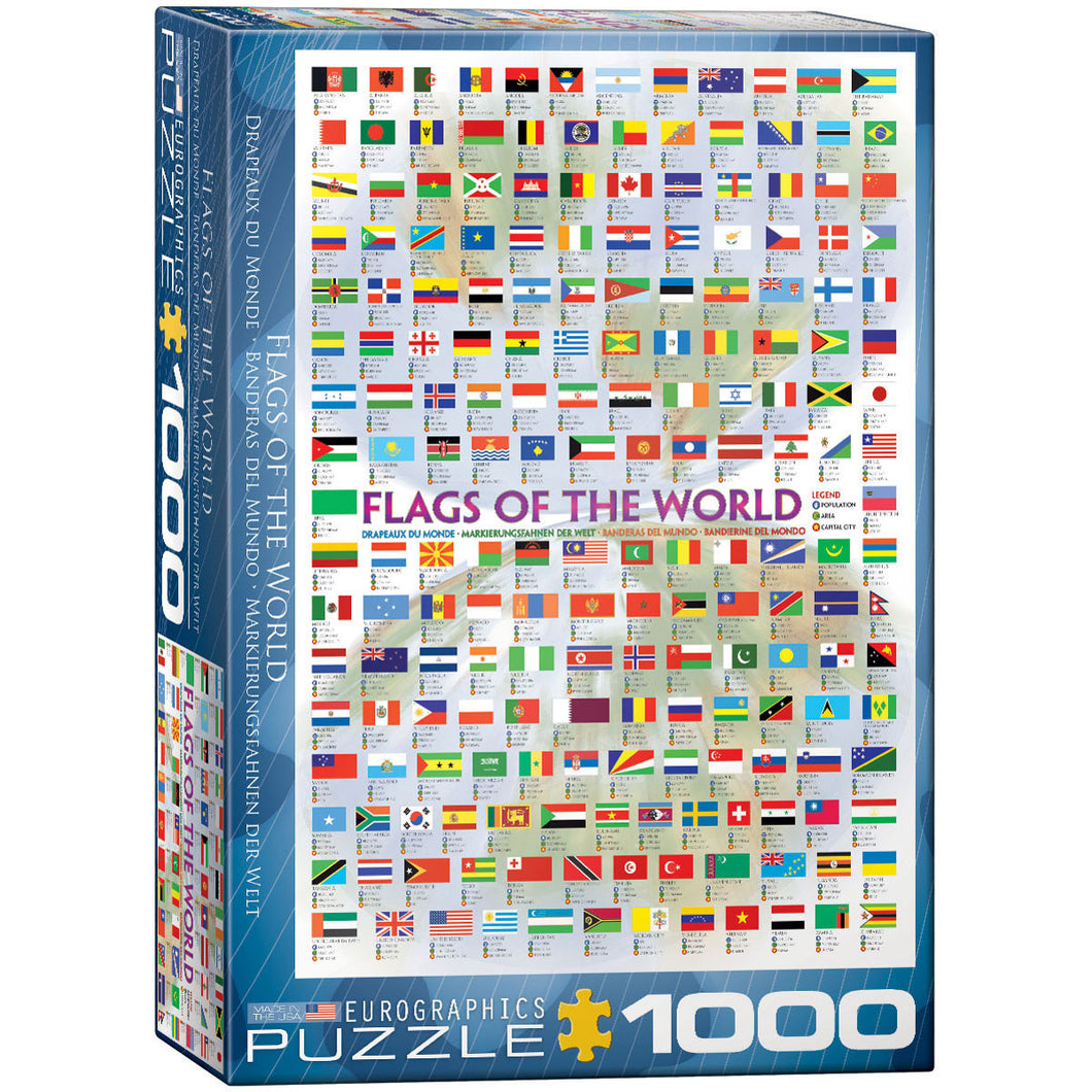 Eurographics Flags Of The World Puzzle 1000 pcs