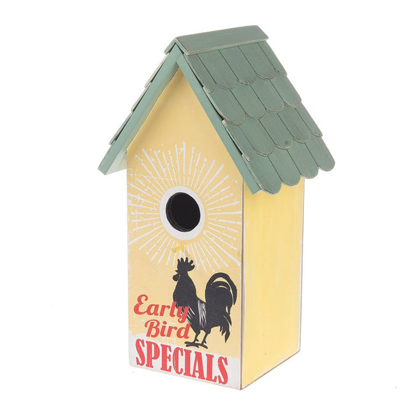 Midwest-CBK Early Bird Specials Birdhouse Yellow/Green