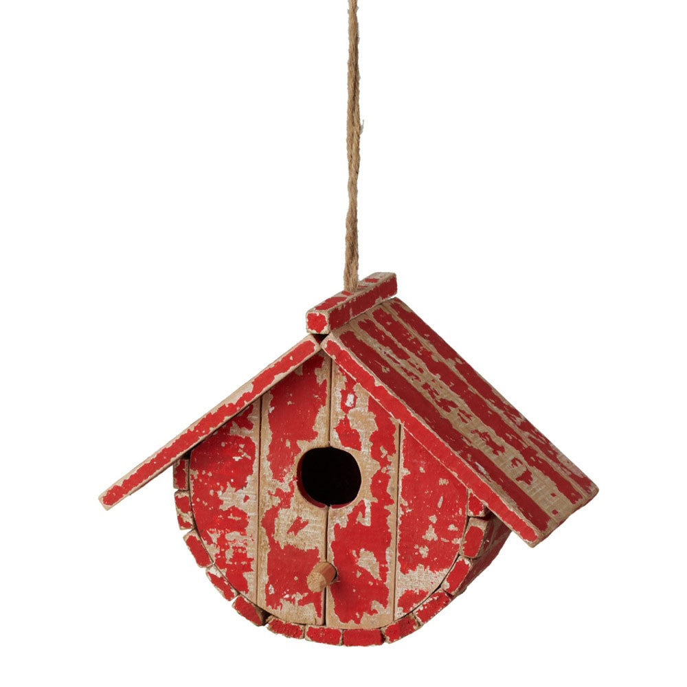 Midwest-CBK Handcrafted Decorative Rounded Birdhouse Red