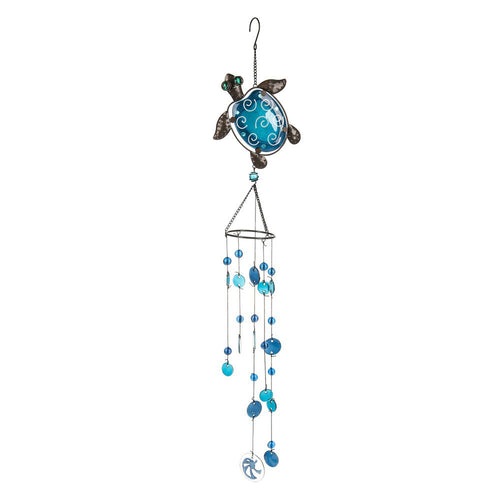 Midwest-CBK Wind Chime Glass Turtle
