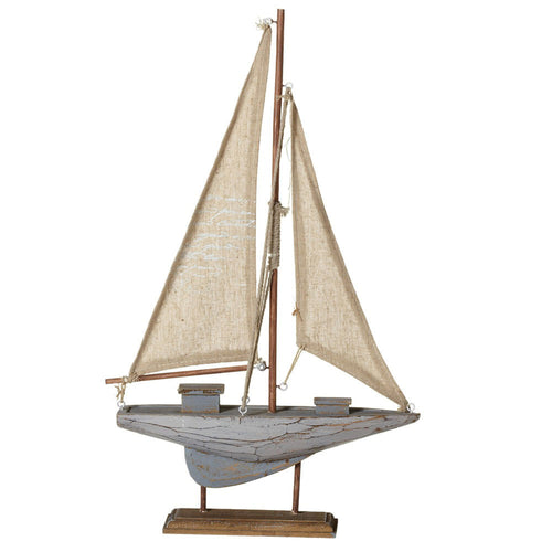 Midwest-CBK Home Decor Wooden Sail Boat