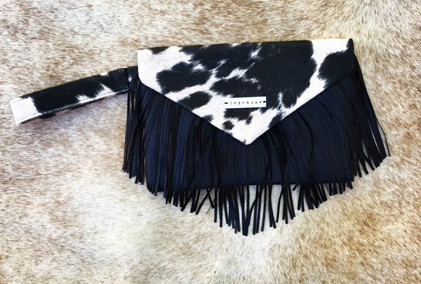 Fringe Envelope Clutch