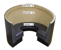 "Round Plain Back $1,720.00/42""Hx15'L - Absolute Seating -restaurant seating expert"