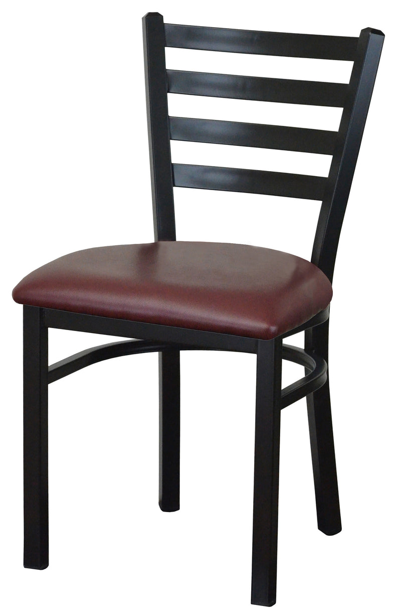 #DF3445-STEEL FRAME DINING CHAIRS FOR REMONSTRANTS BY ABSOLUTE SEATING
