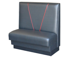 "V-Shape Back $285.00/36""Hx48""L - Absolute Seating -restaurant seating expert"
