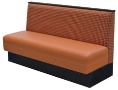 "Plain Back & Wood Cap $375.00/42""Hx48""L - Absolute Seating -restaurant seating expert"