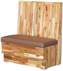 "Reclaimed Wood Back $465.00/42""Hx48""L - Absolute Seating -restaurant seating expert"