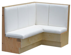 """L"" Shaped Wide Channel Back $520.00/42""Hx48""L - Absolute Seating -restaurant seating expert"