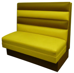 "Horizontal Four Channel Back $290.00/36""Hx48""L - Absolute Seating -restaurant seating expert"