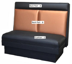 "Two-Block Back $275.00/36""Hx48""L - Absolute Seating -restaurant seating expert"