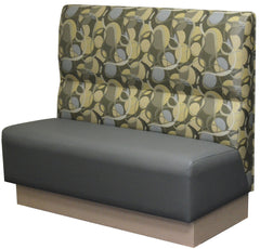 """R"" Back and One-Box Cushion $385.00/42""Hx48""L - Absolute Seating -restaurant seating expert"