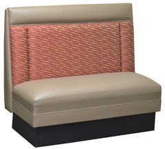 "Two End-Channel Back $275.00/36""Hx48""L - Absolute Seating -restaurant seating expert"