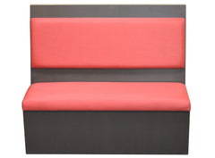 "Laminated Back With Floating Cushion $450.00/42""Hx48""L - Absolute Seating -restaurant seating expert"