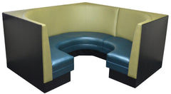 "Plain Back Corner Booth $1850.00/42""Hx22'L - Absolute Seating -restaurant seating expert"