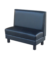 "PLAIN BACK WITH WOOD LEGS $335.00/42""Hx48""L - Absolute Seating -restaurant seating expert"