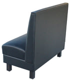 "PLAIN BACK WITH WOOD LEGS $335.00/42""Hx48""L"