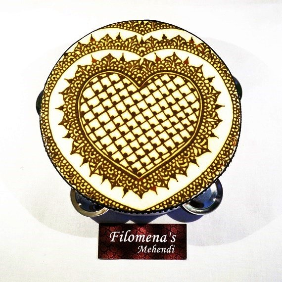 Heart henna, Henna Tambourine, Belly dance, Henna heart, Bellydance, Tribal dance, Belly dancing, Medieval costume, Middle eastern