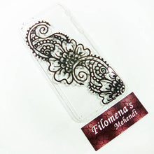 Black flower, Henna case, Mehndi phone case, Floral design, Paisley, Bridesmaid gift, Personalized gift, Phone case, iphone 6 case