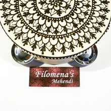 Henna mandala, Gift for women, Asian art, Gift for girls, Functional art, Stocking stuffer, Indian gift, Henna drum, Party nights