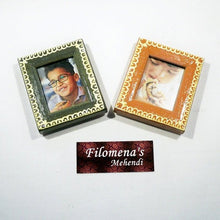 Picture frame, Frame, Personalized frame, Picture frames, Wood frame, Photo frame - 2 Hand Painted Picture Frames