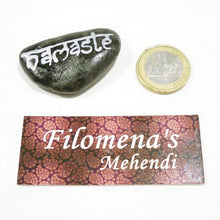 Namaste, Henna painted stone, Pocket Pebbles, Message stones, Affirmation Stones, Worry stone, Encouragement words, Henna, Painted rocks