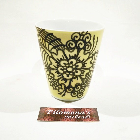 Henna mug, Stoneware, Henna paisley, Rustic feel, Everyday use mug, Holiday gift, Ceramic mug, Gift under 20, Funny mug, Henna cup
