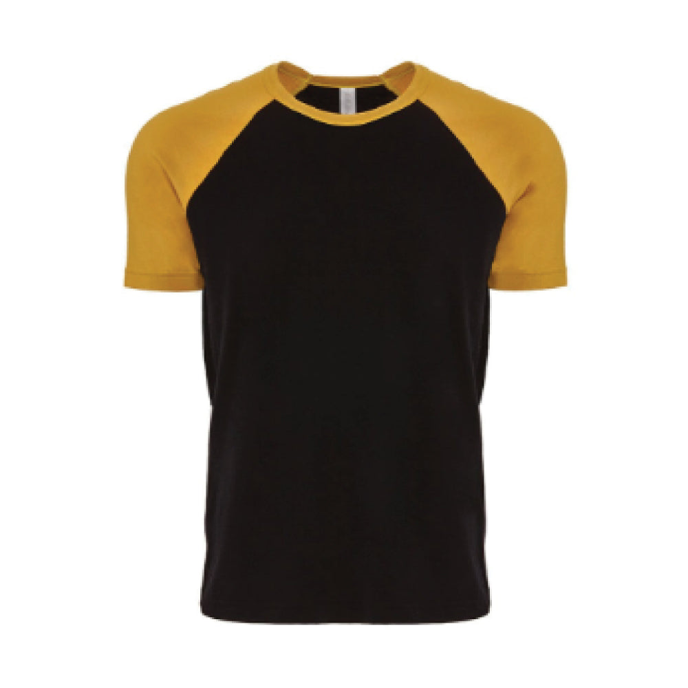 ABDS RAGLAN TEE YELLOW/BLACK