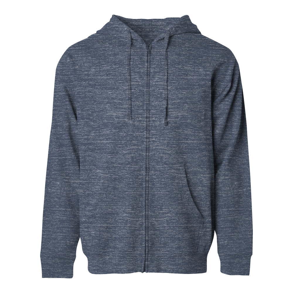 ABDS ZP UP HOODIE HEATHER BLUE - Anderson Bros Design and Supply