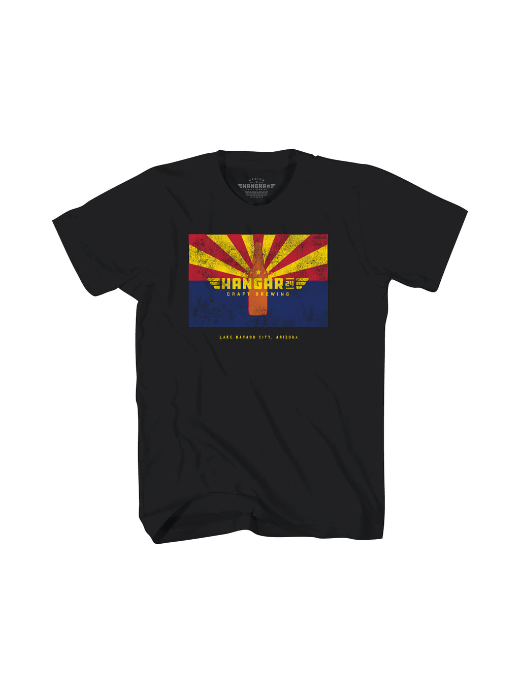 HANGAR CRAFT ARIZONA MENS TEE- BLACK