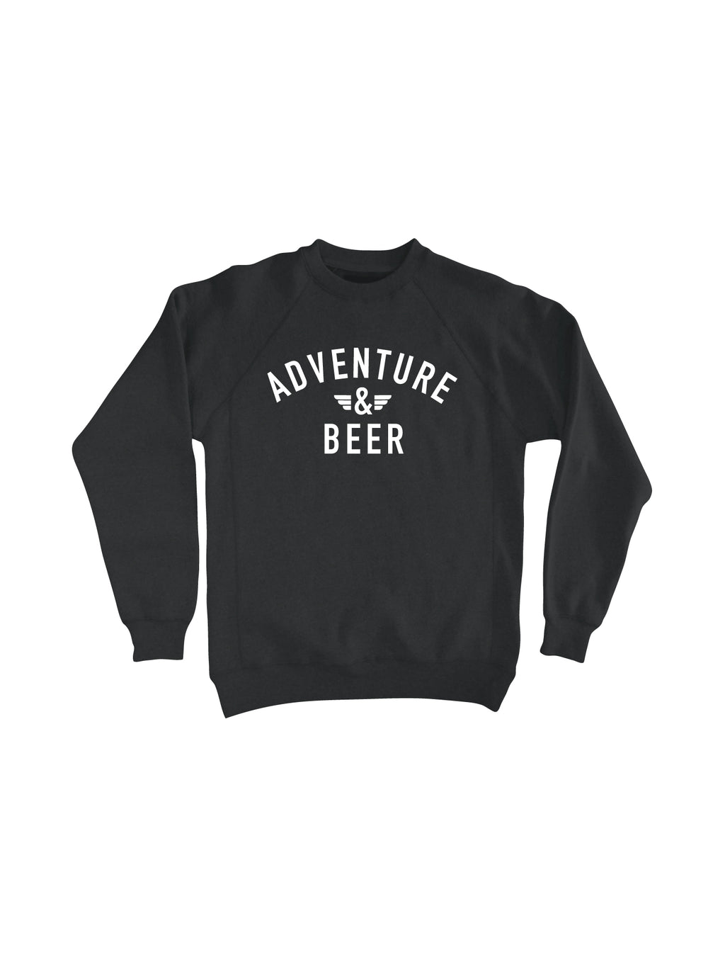 ADVENTURE AND BEER CREW NECK- CHARCOAL