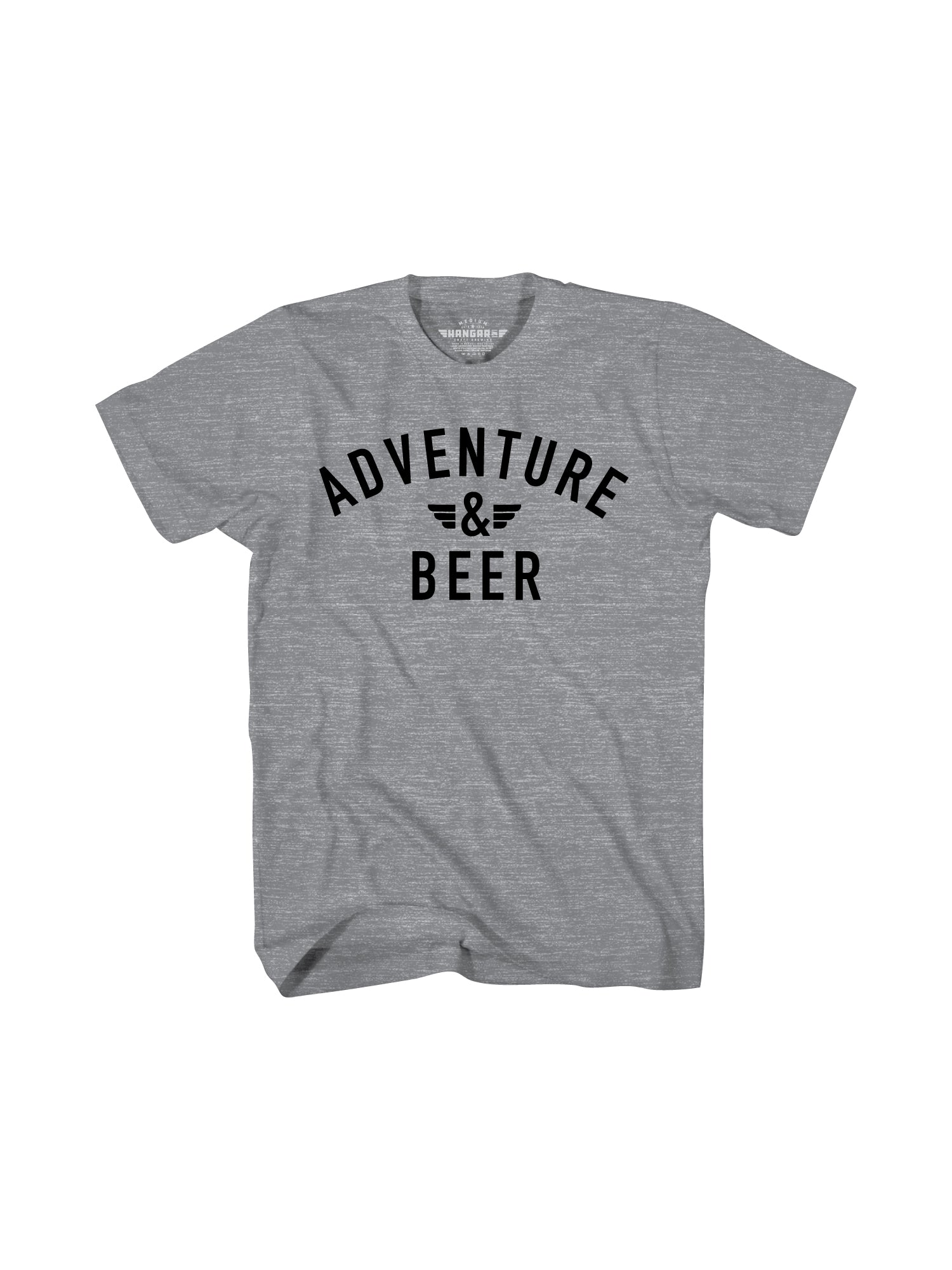 ADVENTURE AND BEER MEN TEE-  GREY