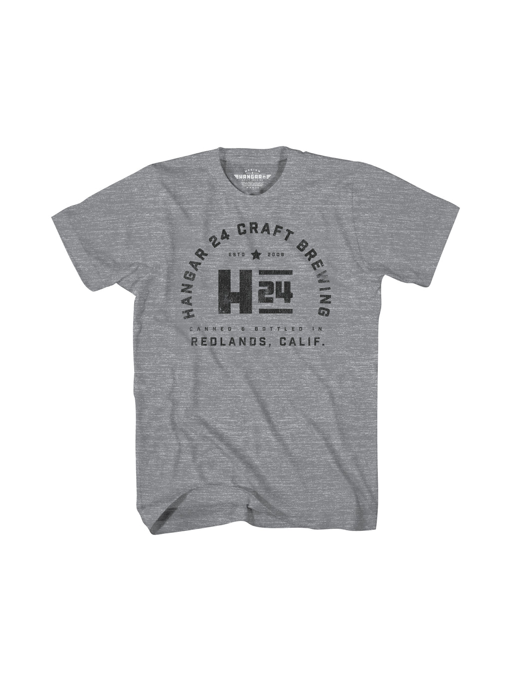 HANGAR REDLANDS MENS TEE- GREY