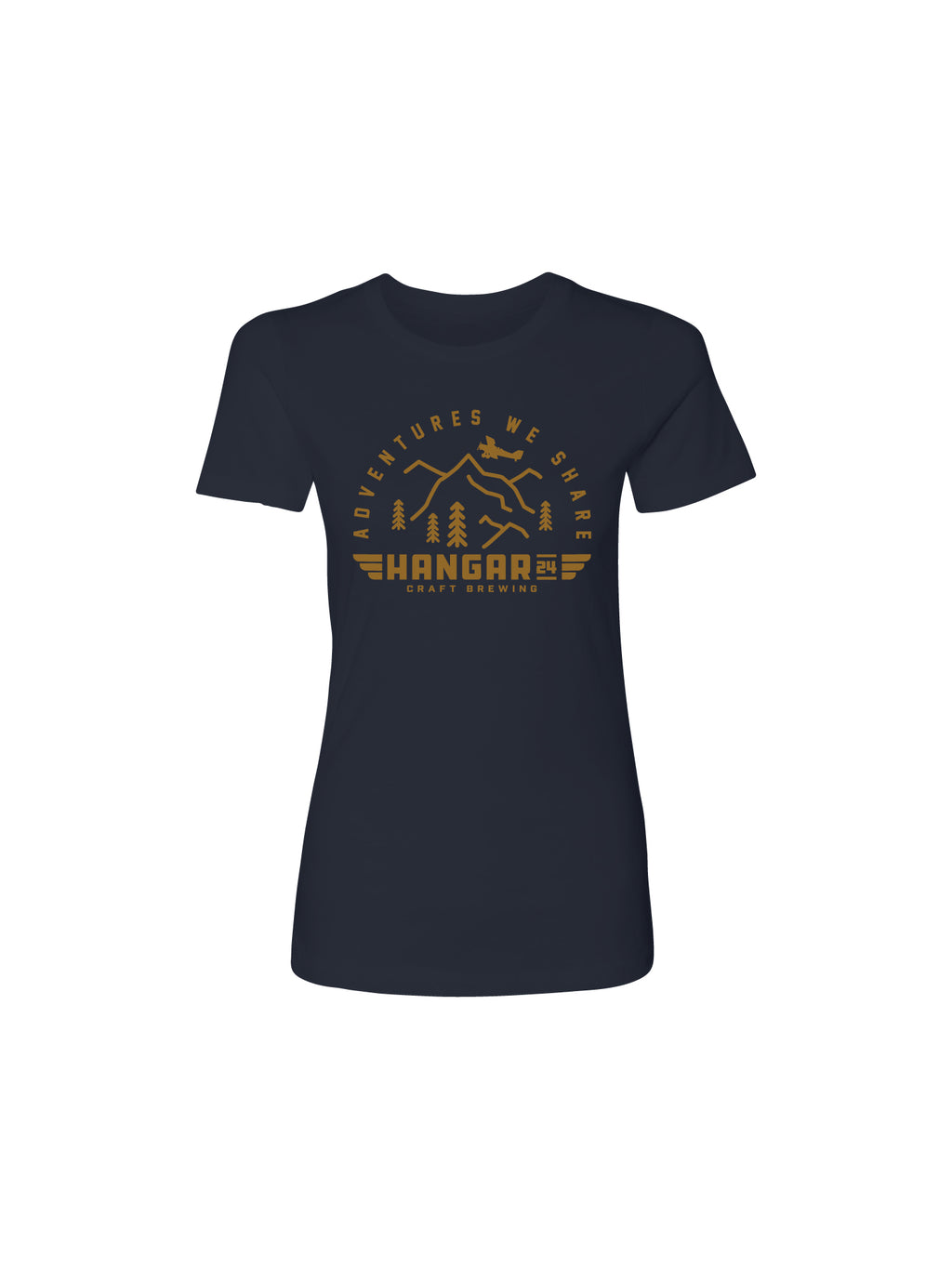 ADVENTURE WE SHARE WOMENS TEE- NAVY - Anderson Bros Design and Supply
