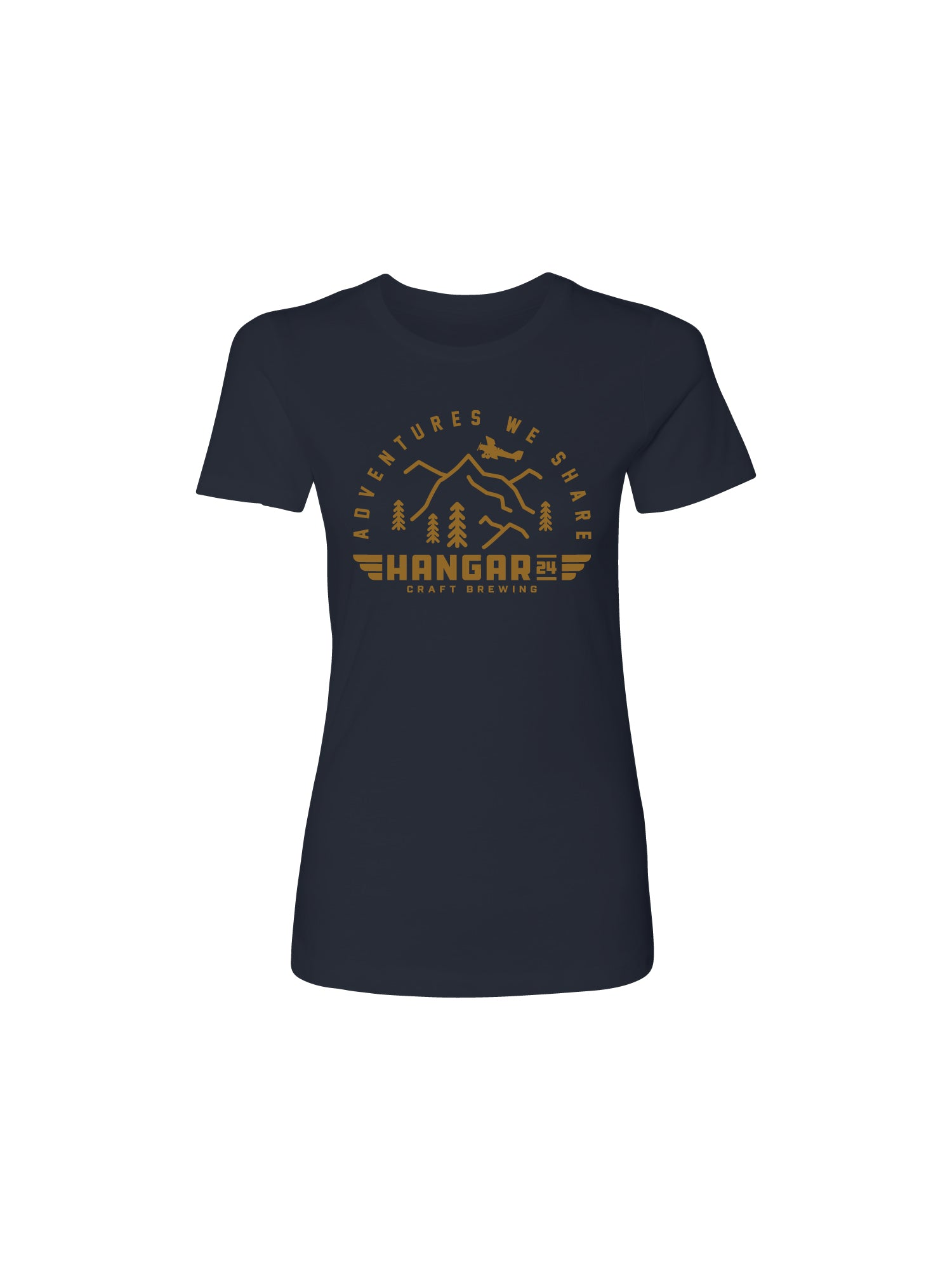 ADVENTURE WE SHARE WOMENS TEE- NAVY