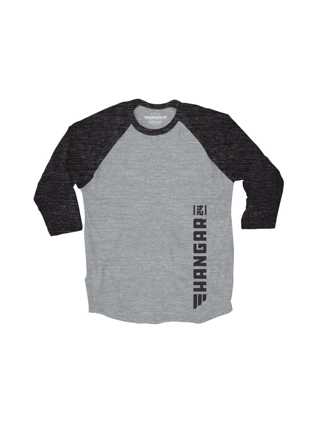 HANGAR 24 BASEBALL TEE- GREY