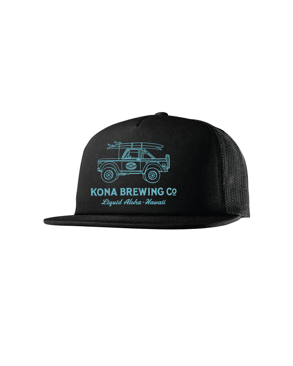 KONA BRONCO TRUCKER HAT- BLACK