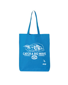 KONA CATCH A BIG WAVE TOTE BAG- BLUE - Anderson Bros Design and Supply