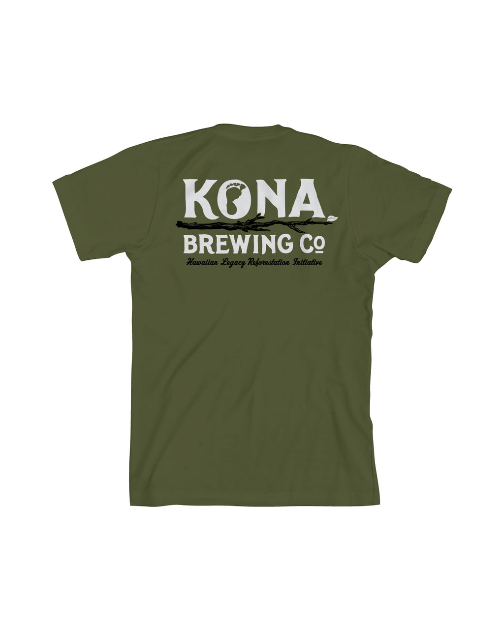 KONA HLH MEN TEE- ARMY - Anderson Bros Design and Supply