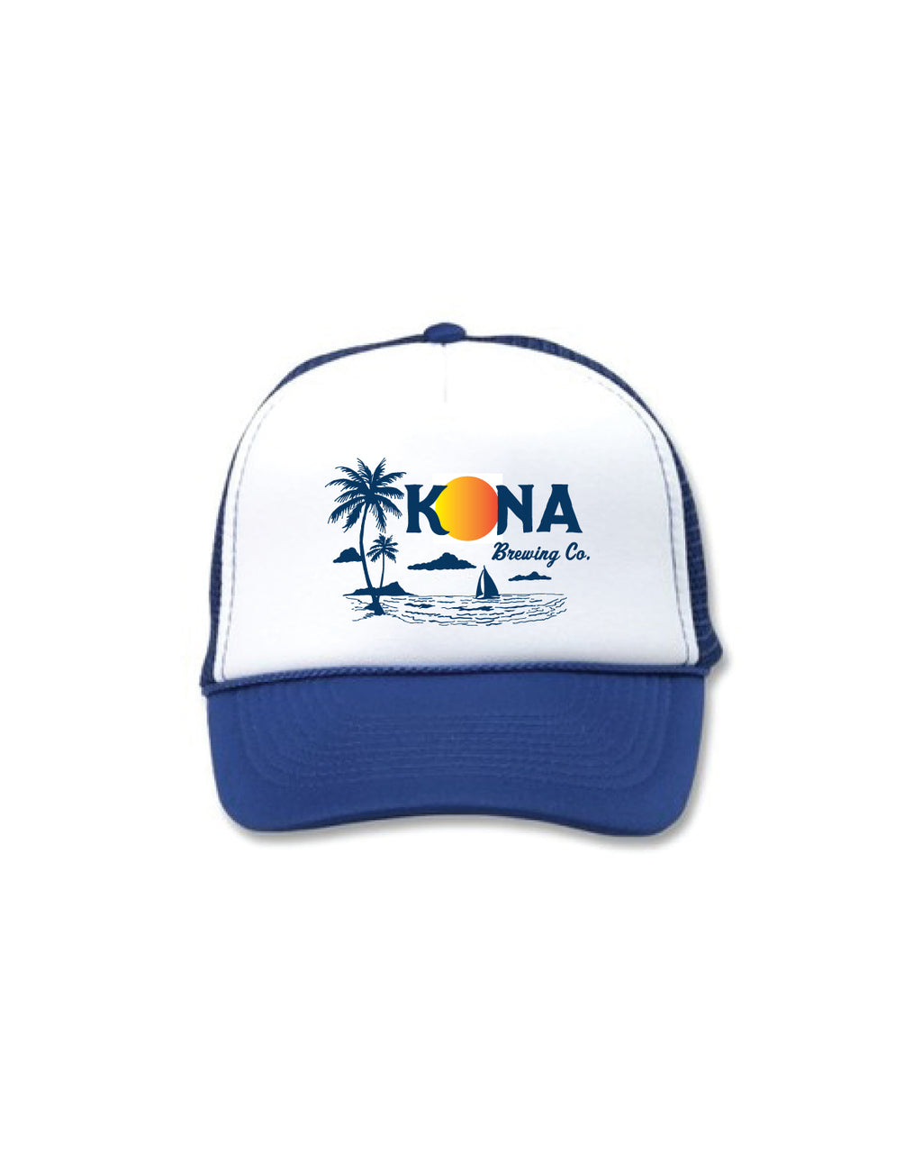 KONA SUSNET TRUCKER HAT- BLUE - Anderson Bros Design and Supply