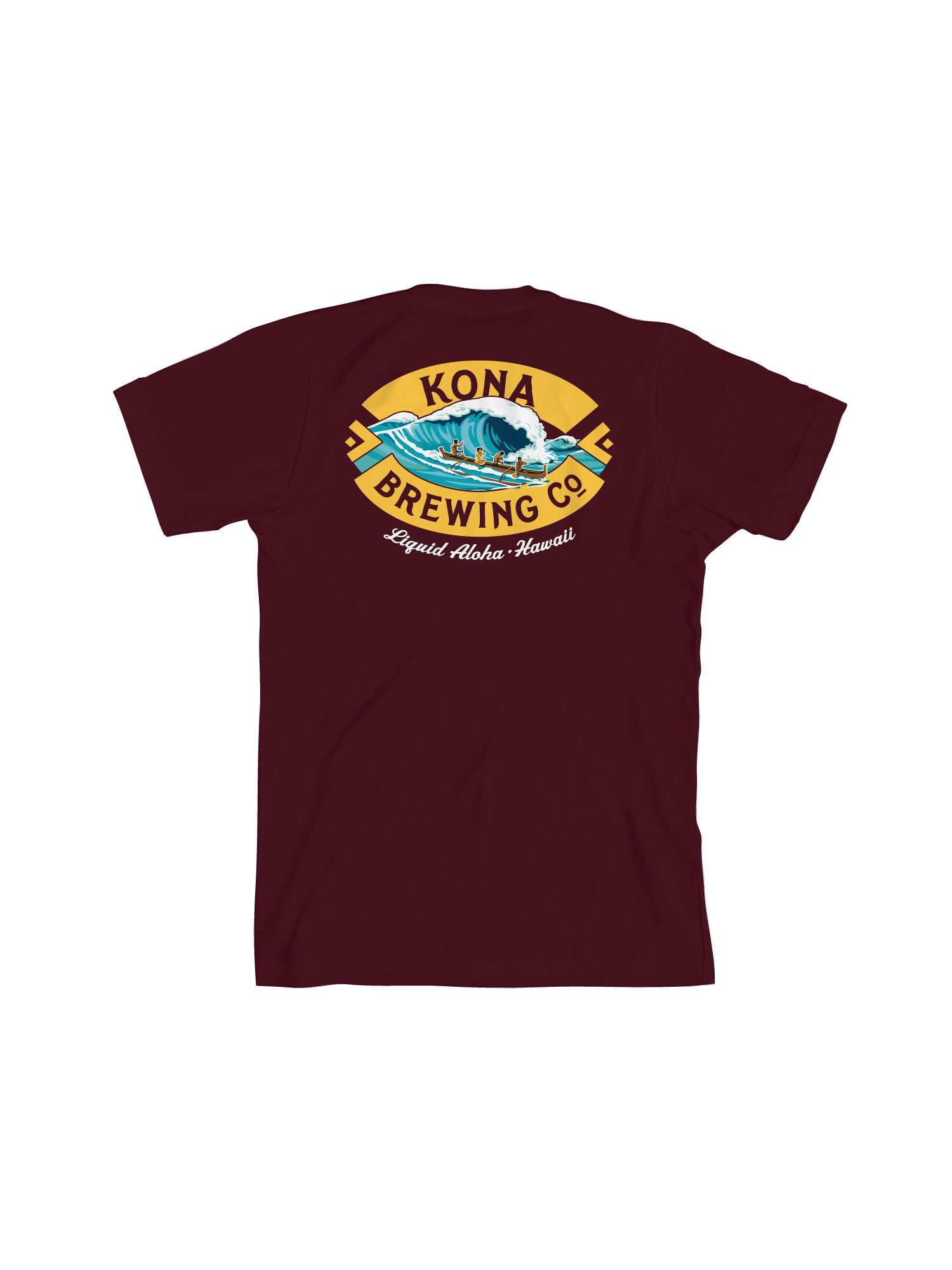 KONA BIG WAVE MEN TEE- MAROON - Anderson Bros Design and Supply