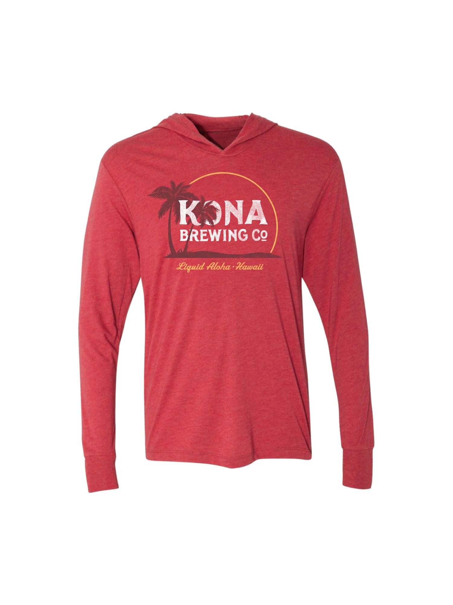 KONA SUNRISE LIGHT WEIGHT PULL OVER- RED