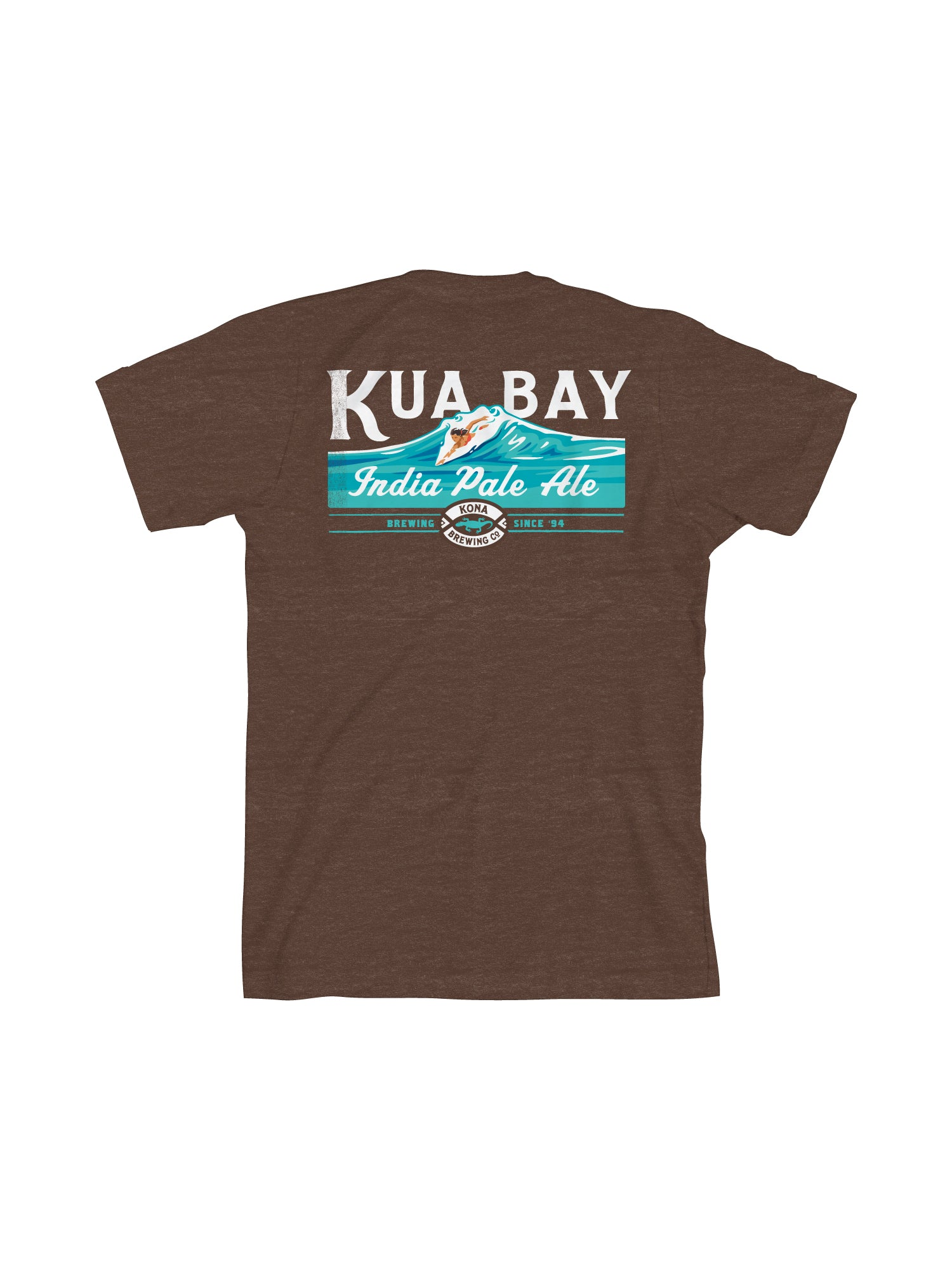 KONA KUA BAY MEN TEE- BROWN - Anderson Bros Design and Supply